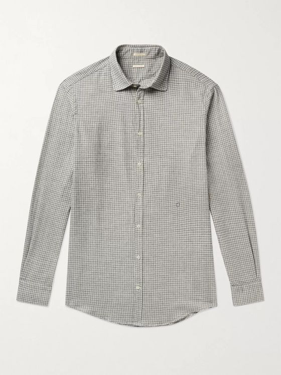 Massimo Alba Checked Cotton Shirt