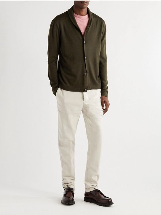 MASSIMO ALBA Scoop Slim-Fit Shawl-Collar Wool Cardigan