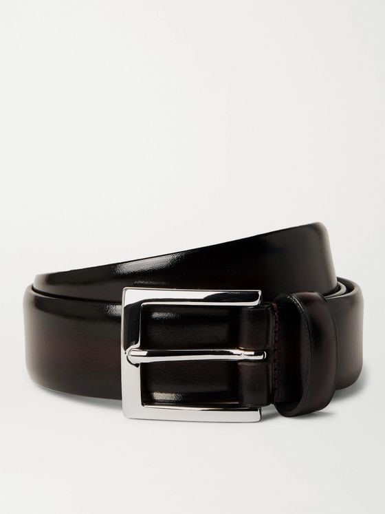 Anderson's 3cm Burnished Leather Belt
