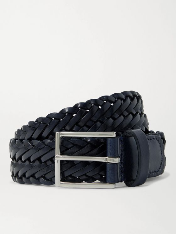 Anderson's 3cm Woven Leather Belt
