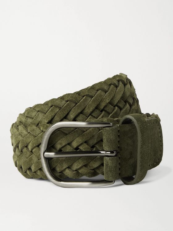 Anderson's 3.5cm Woven Suede Belt
