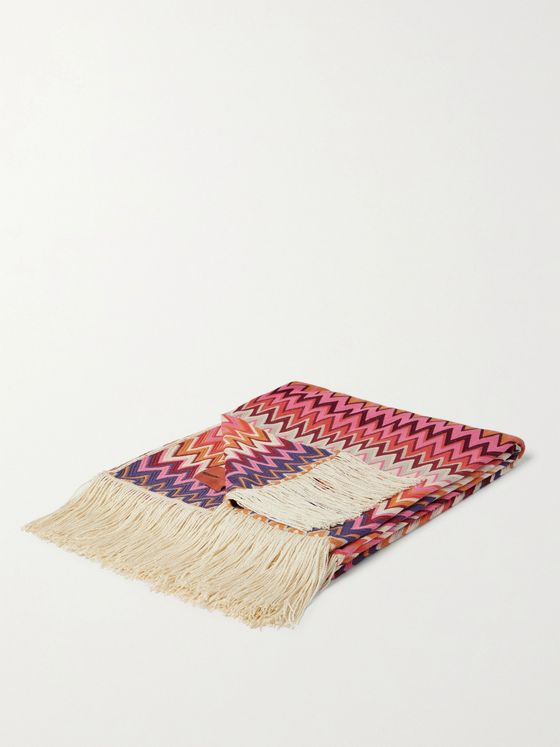 Missoni Home Margot Fringed Crochet-Knit Throw