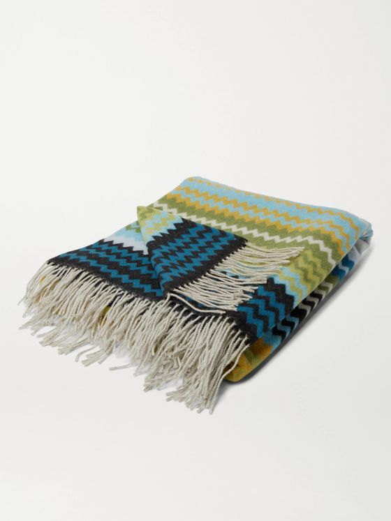 Missoni Home Humbert Fringed Wool-Blend Throw