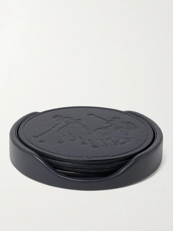 Ralph Lauren Home Garrett Set of Four Leather Coasters