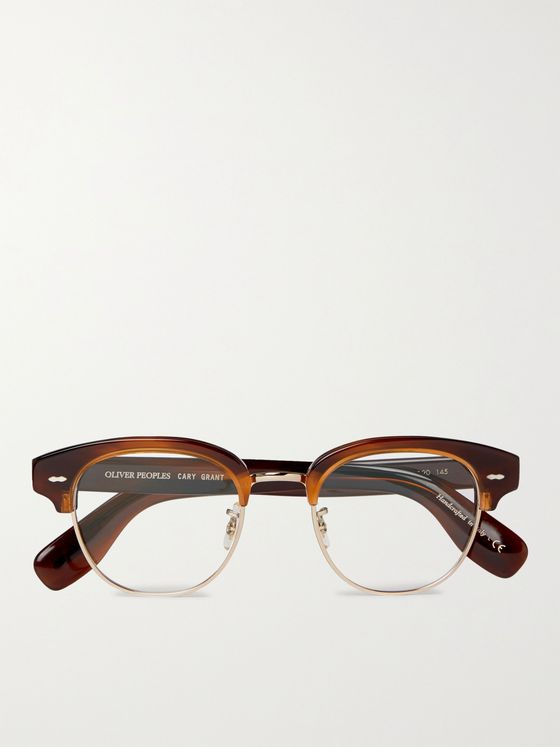 OLIVER PEOPLES Cary Grant 2 Round-Frame Gold-Tone and Tortoiseshell Acetate Optical Glasses