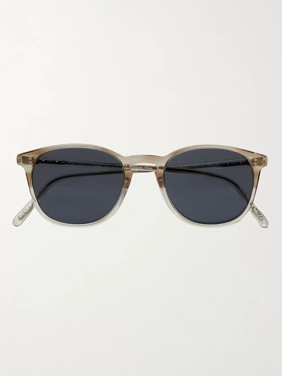 OLIVER PEOPLES Finley Vintage Round-Frame Acetate Sunglasses