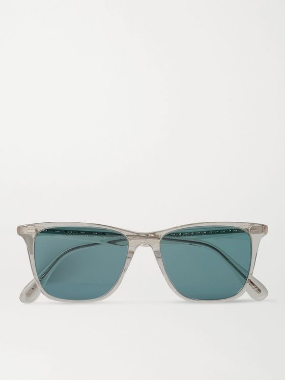 OLIVER PEOPLES Ollis Sun Square-Frame Acetate Polarised Sunglasses