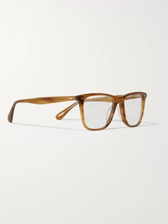 OLIVER PEOPLES Ollis Square-Frame Acetate Optical Glasses