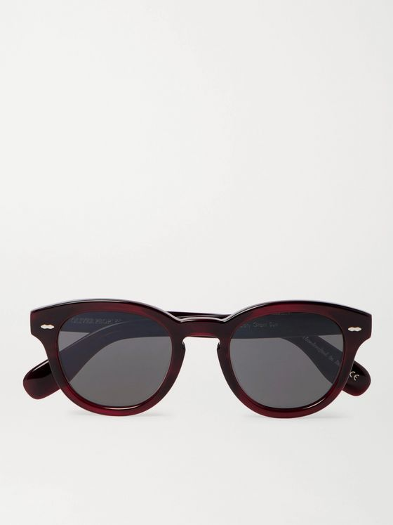 OLIVER PEOPLES Cary Grant Round-Frame Acetate Sunglasses