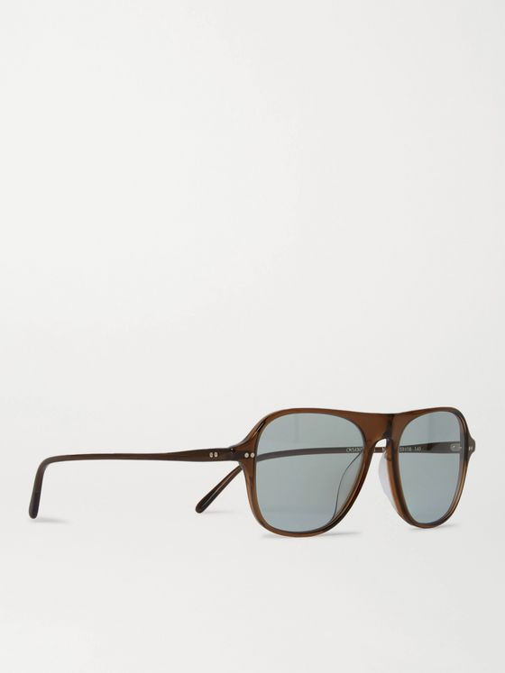 OLIVER PEOPLES Nilos D-Frame Acetate Sunglasses