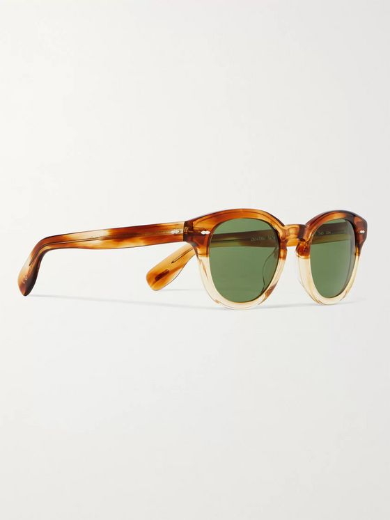 OLIVER PEOPLES Cary Grant Sun Round-Frame Acetate Sunglasses