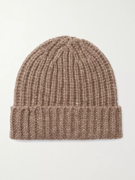 Johnstons of Elgin Ribbed Donegal Cashmere Beanie