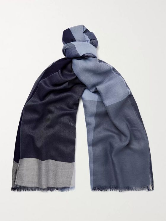 Johnstons of Elgin Colour-Block Cashmere Scarf