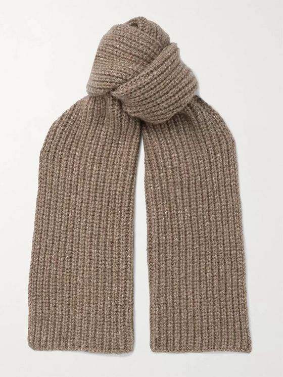 Johnstons of Elgin Ribbed Donegal Cashmere Scarf