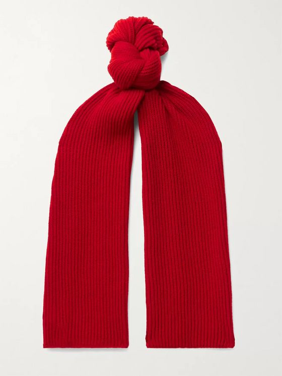 Johnstons of Elgin Ribbed Cashmere Scarf