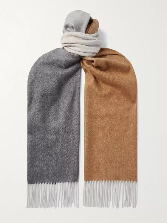 Johnstons of Elgin Fringed Dégradé Cashmere Scarf