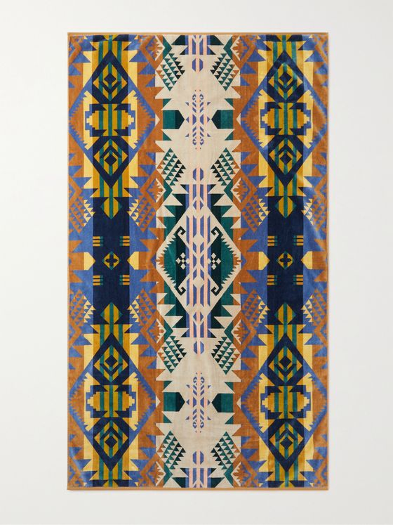 Pendleton Cotton-Terry Jacquard Beach Towel