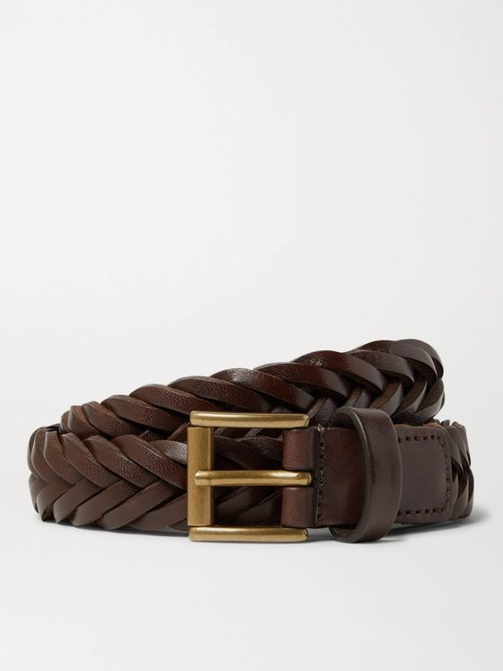 Anderson's 2.5cm Woven Leather Belt