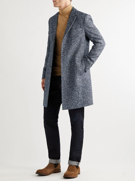 Hugo Boss Herringbone Donegal Overcoat