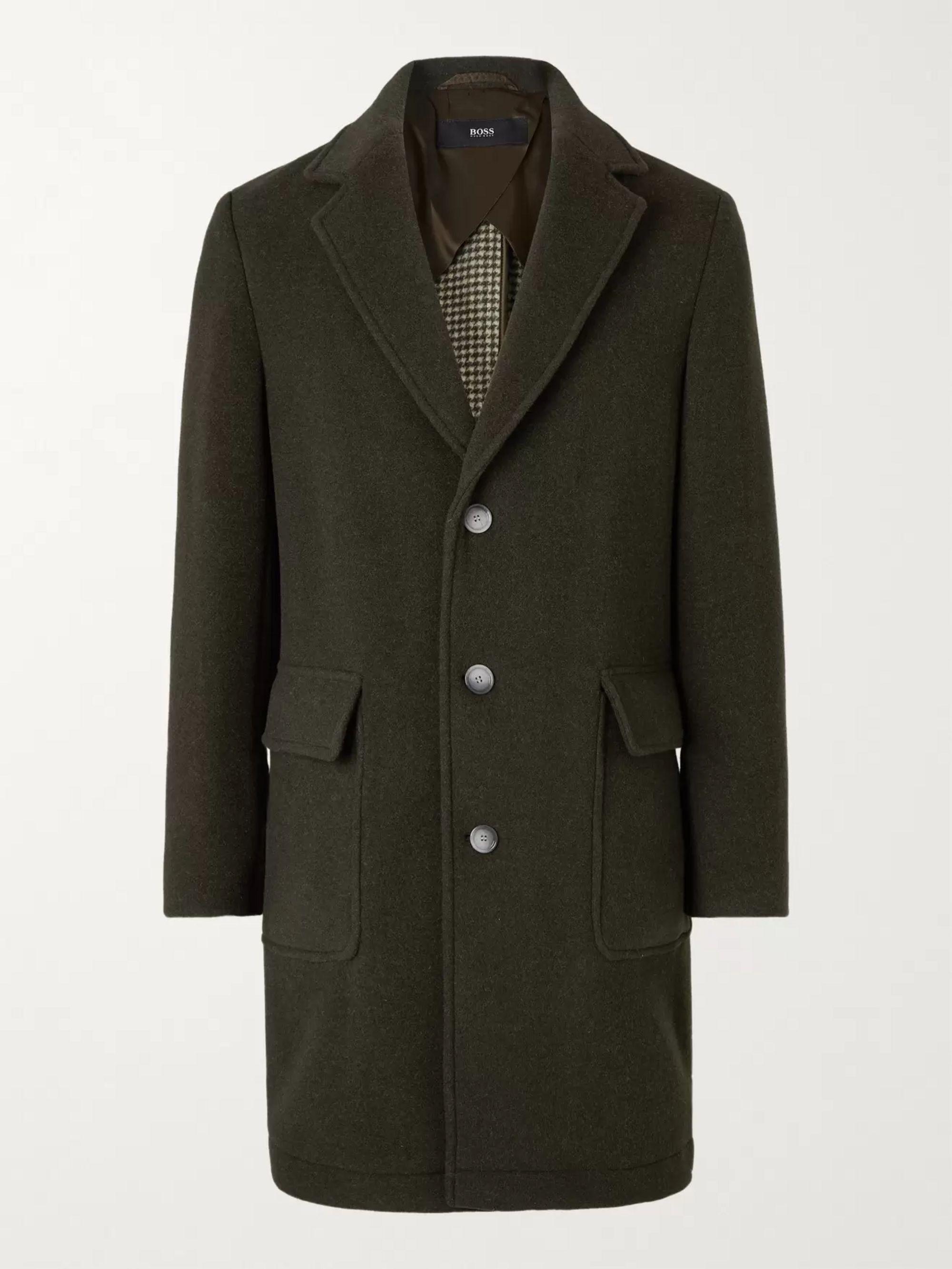 HUGO BOSS Slim-Fit Wool-Blend Coat