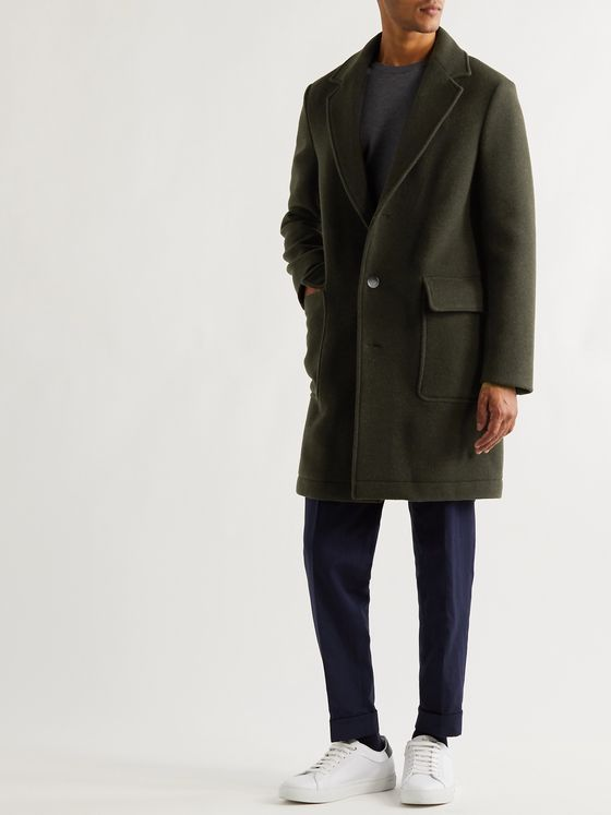 HUGO BOSS Slim-Fit Wool-Blend Coat