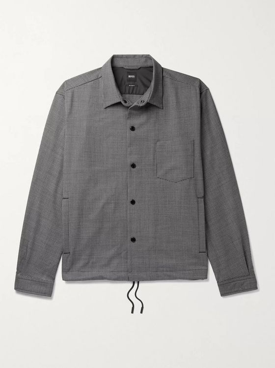 Hugo Boss Houndstooth Woven Overshirt