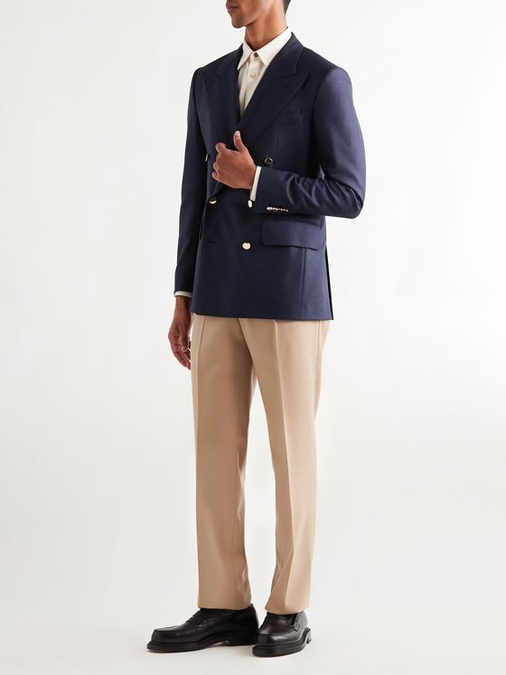 Husbands Gainsbourg Slim-Fit Double-Breasted Wool Blazer