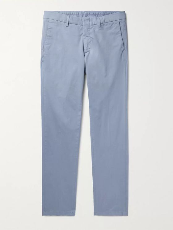 DUNHILL Cotton-Blend Twill Chinos