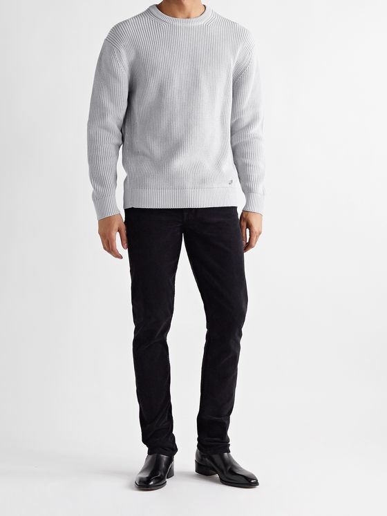 DUNHILL Ribbed Cotton Sweater