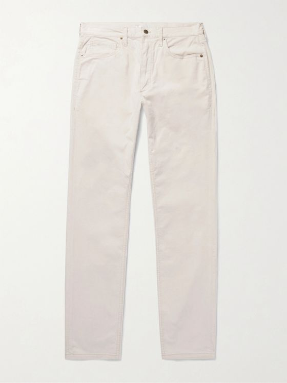 SAMAN AMEL Stretch-Cotton Corduroy Trousers