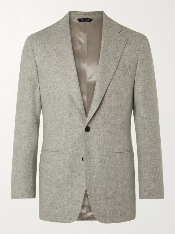 Saman Amel Slim-Fit Wool Blazer