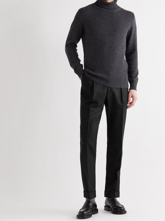 Saman Amel Tapered Wool Trousers
