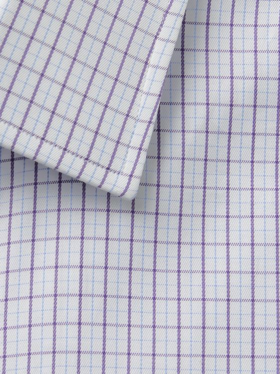 CHARVET Slim-Fit Checked Cotton-Poplin Shirt