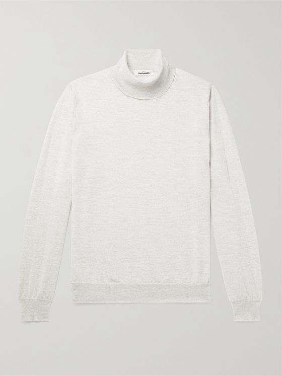 Saman Amel Merino Wool Rollneck Sweater