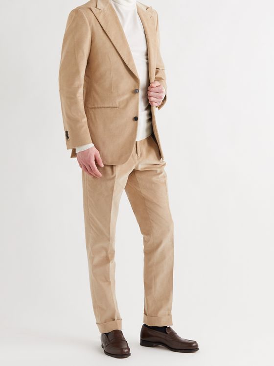 Saman Amel Slim-Fit Cotton-Corduroy Suit Trousers