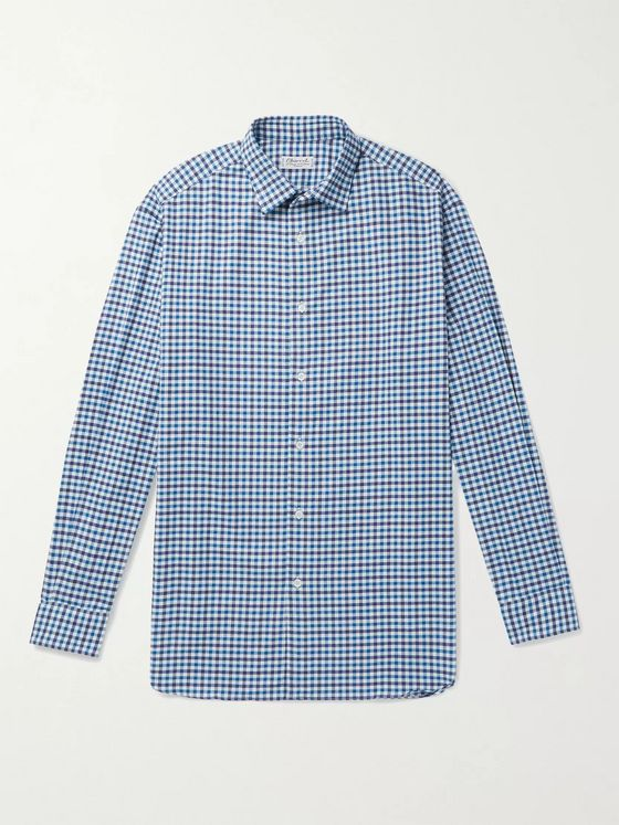 CHARVET Checked Cotton-Flannel Shirt