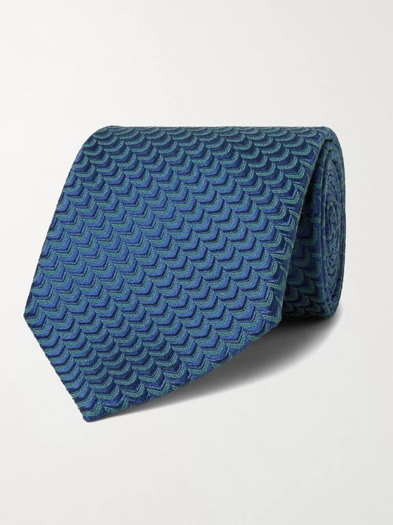 CHARVET 8.5 Silk and Wool-Blend Jacquard Tie
