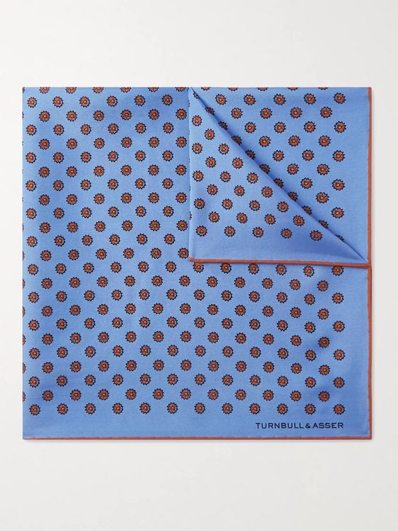 Turnbull & Asser Printed Silk Pocket Square