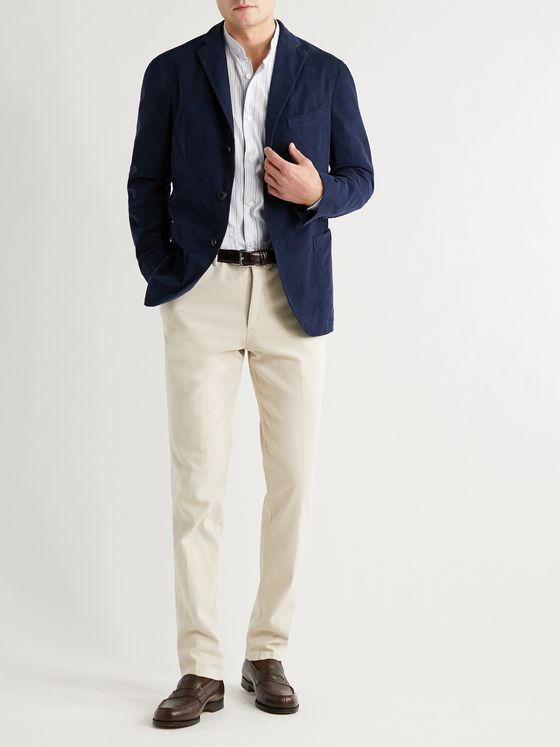 BOGLIOLI Kei Slim-Fit Unstructured Cotton-Corduroy Blazer