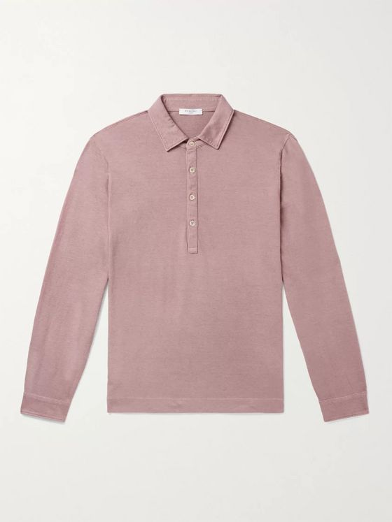 BOGLIOLI Cotton and Cashmere-Blend Polo Shirt