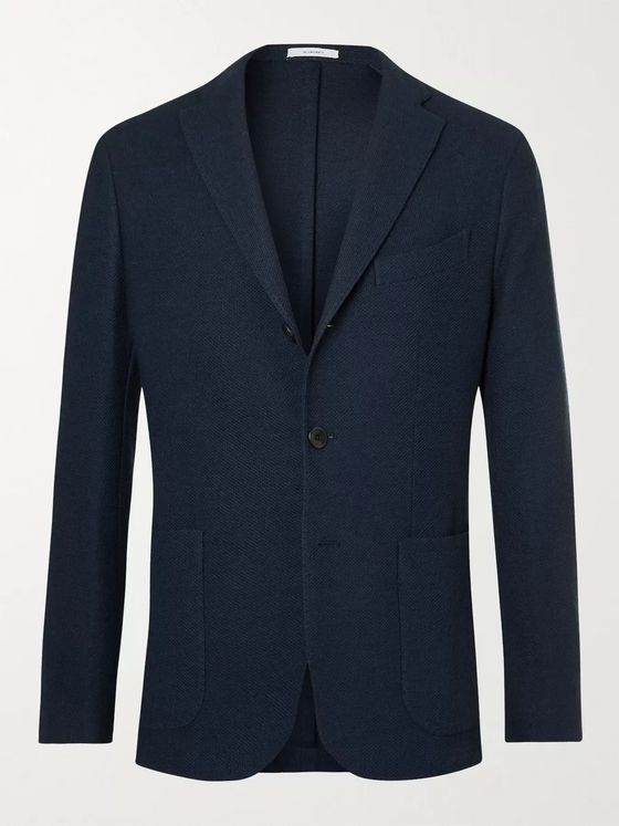BOGLIOLI Kei Slim-Fit Unstructured Honeycomb-Knit Blazer
