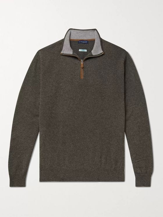 PETER MILLAR Artisan Slim-Fit Cashmere-Blend Half-Zip Sweater