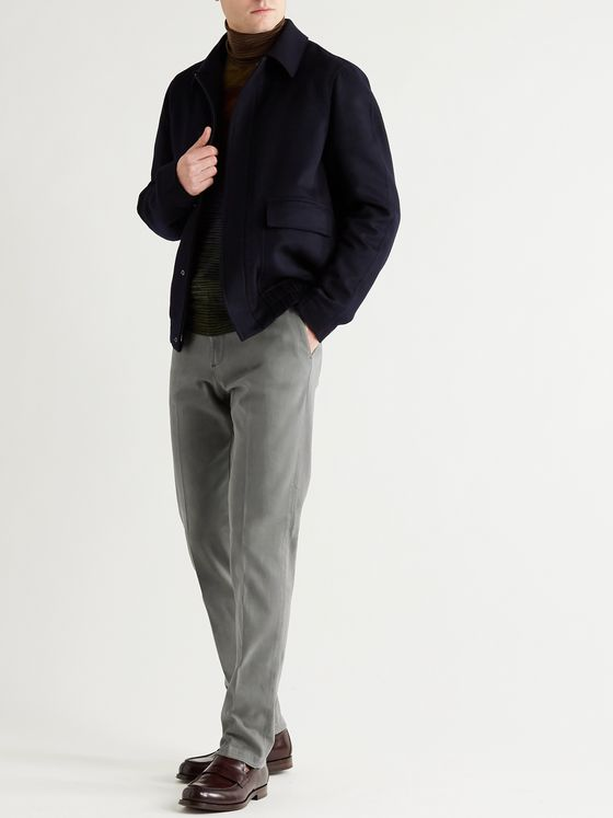 BOGLIOLI Slim-Fit Cotton-Blend Drill Trousers