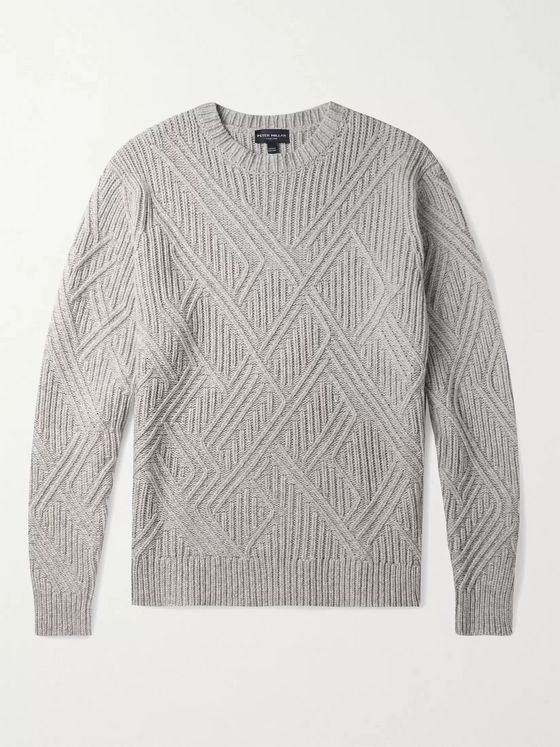 PETER MILLAR Chalet Textured Wool-Blend Sweater