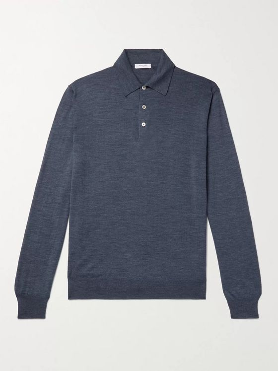 BOGLIOLI Virgin Wool Polo Shirt