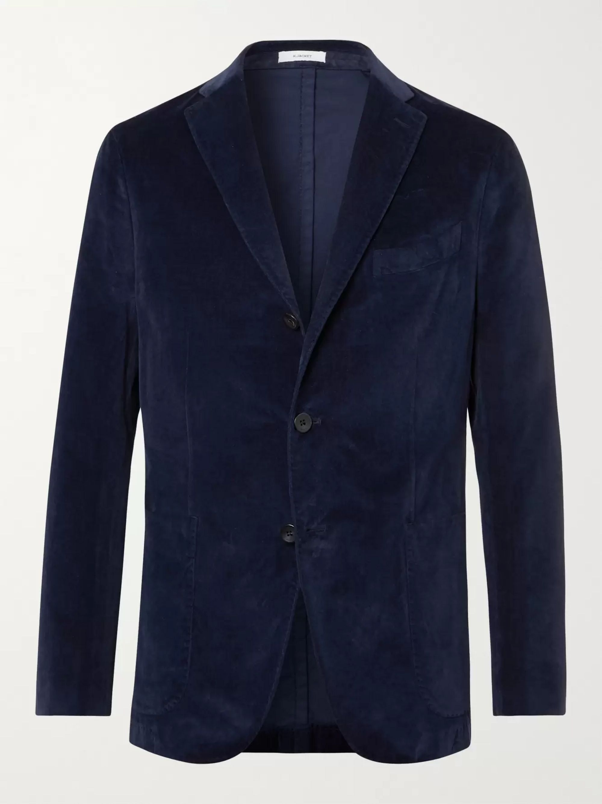 BOGLIOLI Kei Slim-Fit Unstructured Garment-Dyed Cotton-Velvet Blazer