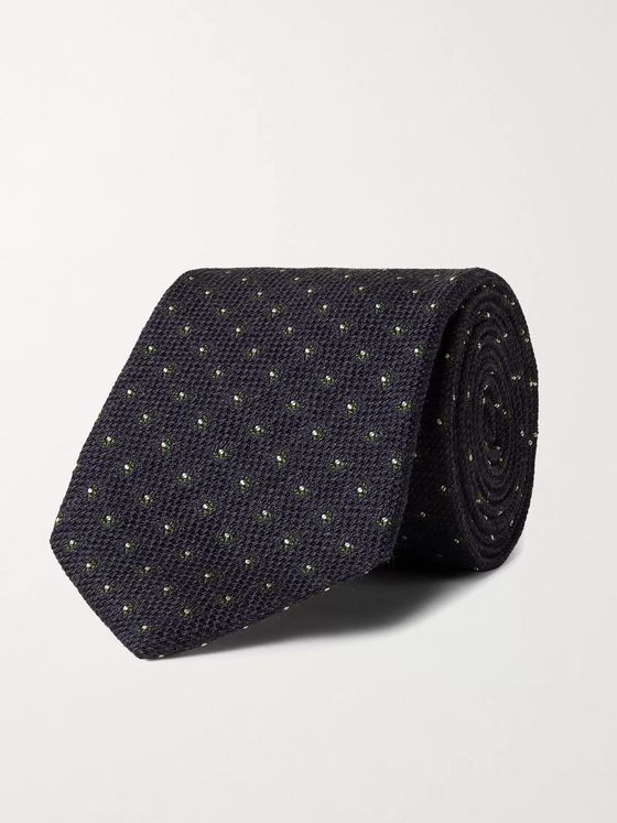 Bigi 8.5cm Silk and Wool-Blend Jacquard Tie