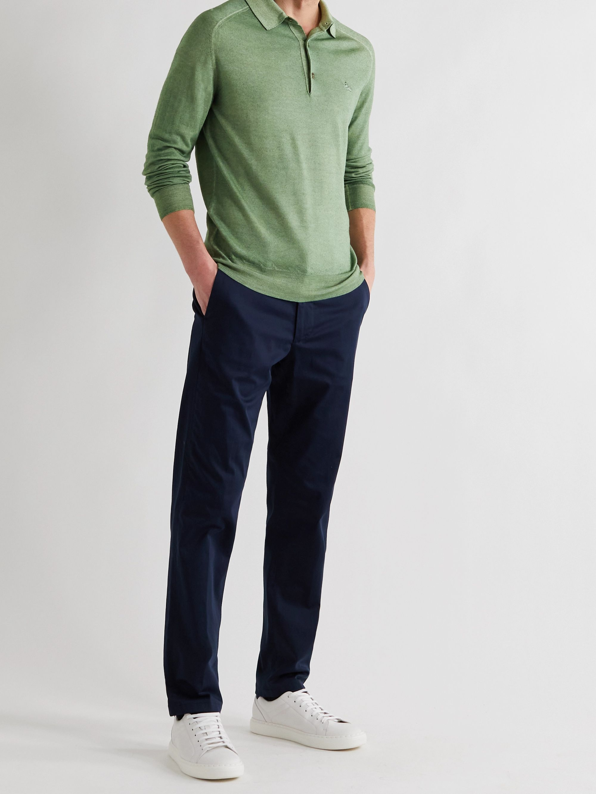 ETRO Slim-Fit Wool Polo Shirt