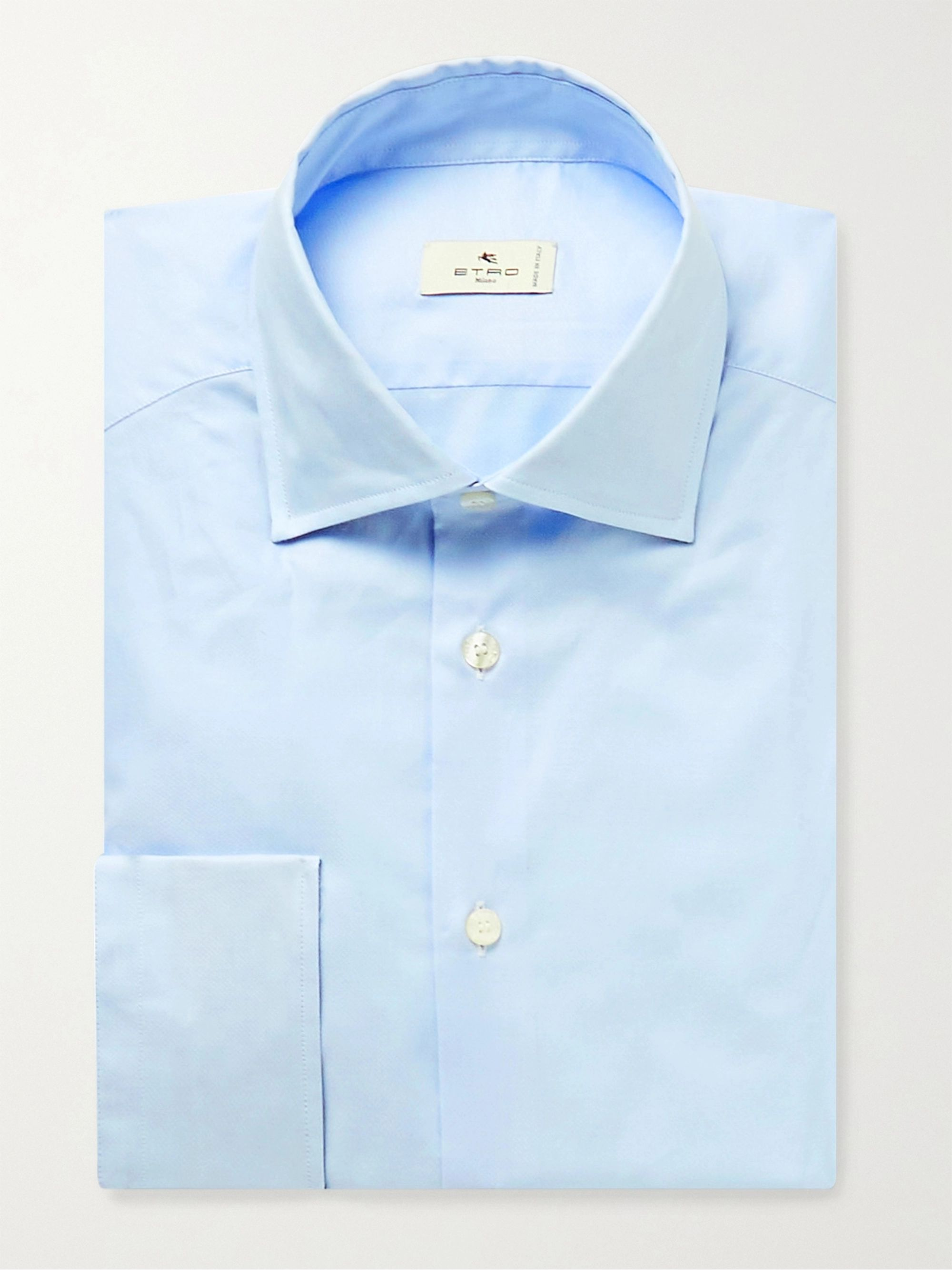 ETRO Slim-Fit Poplin-Trimmed Cotton Oxford Shirt