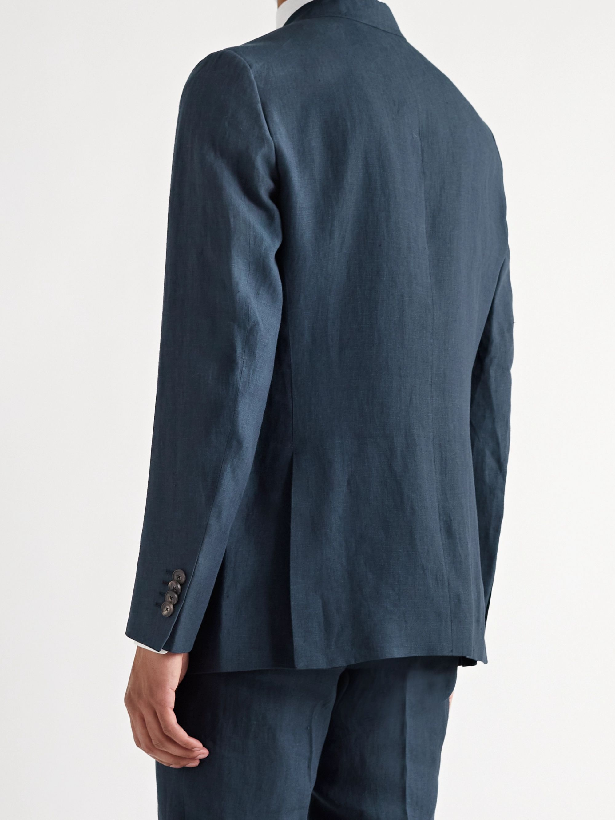 ETRO Unstructured Slub Linen Suit Jacket
